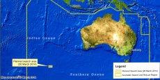 L'Autorité australienne de sécurité maritime a présenté ce qui pourrait peut-être la localisation des restes du vol MH370 de Malaisya Airlines. REUTERS/Sean Davey