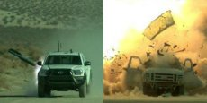 Le missile air-sol Brimstone, qui arme un drone MQ-9 Reaper, détruit des véhicules au cours de tests réalisés aux Etats-Unis. C'est l'une des grandes chances de succès de MBDA aux Etats-Unis