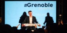 Eric Piolle, nouveau maire de Grenoble, lors de son discours d'investiture.