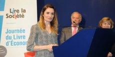 Christine Lejoux  lors de la remise du prix du meilleur article financier 2014 | CR