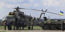 Des militaires ukrainiens ont été déployés à Kramatorsk, dans l'Est du pays, mardi 15 avril. Reuters