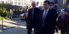 Claudy Lebreton (à droite), Manuel Valls et Yves Colmou. | La Tribune