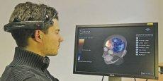 L'affichage en temps réel sur écran de l'activité cérébrale de la personne, une étape vers la possibilité de stimuler ou d'inhiber des zones précises et choisies du cerveau. / DR
