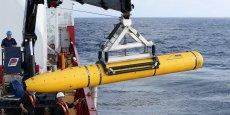 Le Bluefin-21, équipé d'un sonar, est descendu jusqu'à 4.695 mètres de profondeur