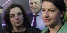 Les élus d'Europe Ecologie-Les Verts - ici Emmanuelle Cosse et Cécile Duflot - sont en désaccord avec le plan d'économies de Manuel Valls qui viserait les plus en difficulté. Reuters