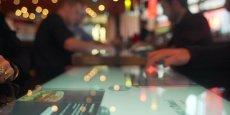 Digitale propose une table de restaurant tactile et connectée. (photo DR)