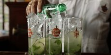 Les quatre cocktails possible, Margarita, Mojito, Cosmopolitan et Lemon Drop seront disponibles partout où l'on peut acheter des boissons alcoolisées précise la société basée en Arizona. Reuters
