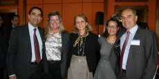 De gauche à droite,  Gérald KARSENTI (HP), Polly SUMNER (Salesforce.com), Isabelle ROUX-CHENU (Capgemini), Najette KADRI-MAROUARD (IBM), Daniel CHAFFRAIX (Capgemini).