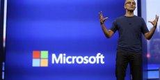 Nommé en février à la tête de Microsoft, dont il fait partie depuis 22 ans, Satya Nadella estime que Microsoft doit fabriquer des produits que les gens veulent et aiment. REUTERS/Robert Galbraith