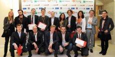 Les lauréats français 2014 de la MIT Technology Review du concours Innovateurs de moins de 35 ans, lors de la remise des prix, le 9 avril dernier. / DR