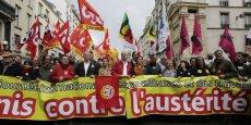 Gouvernement de François Hollande: gouvernement des riches pour les riches, disait une banderole dans le cortège parisien. (Photo : Reuters)