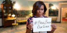 Michelle Obama a adopté le hashtag #BringBackOurGirls en soutien aux jeunes filles nigérianes capturées par les islamistes de Boko Haram. / Reuters