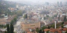 Vue de Sarajevo, capitale de la Bosnie Herzégovine