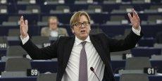 Guy Verhofstadt, Président du groupe ADLE au Parlement européen. / Reuters