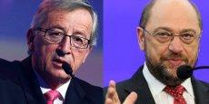Jean-Claude Juncker et Martin Schulz. / DR