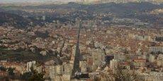 Vue aérienne sur Saint-Etienne.