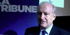 Hubert Védrine était l'invité de La Tribune et de la FNTP lors de la «matinale des travaux publics», mercredi 14 mai. / DR