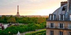 Vue de l'hôtel Regina, Place des Pyramides à Paris. Capture d'écran du site internet de l'hôtel.