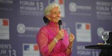 Christine Lagarde a assuré qu'après un hiver difficile, l'activité économique aux Etats-Unis abordait un rebond significatif. (Photo : Reuters)