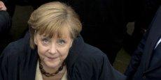 Angela Merkel, chancelière allemande, s'exprimait aujourd'hui dans une conférence de presse à Berlin.