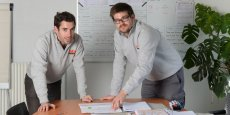 Nicolas Martinez et Sébastien Monin ont mis en œuvre le système de production Monin Mécanique. Reportage photo : Laurent Cerino/Acteurs de l'économie