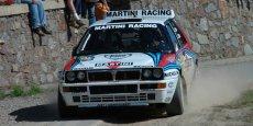 La célèbre Lancia Delta Integrale, championne du monde des rallyes