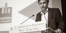 Thierry Wellhoff, président de Syntec Conseil en Relations Publics annonce le palmarès des Trophées de la Réputation - Photo E. Nguyen Ngoc