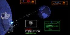 Le procédé a permis à la Lune de disposer d'une connexion entrant avec un débit de 622 mégabits par seconde. (Photo : NASA)