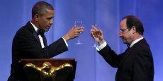 Barack Obama et François Hollande lors de la visite du président français aux Etats-Unis en février 2014. /Reuters