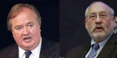 Denis Kessler, PDG de Scor, et Joseph Stiglitz prix Nobel d'économie