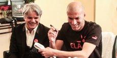 Guy Alba, président-fondateur d'ELA, et Zinédine Zidane, parrain et membre d'honneur de l'association.   André D.