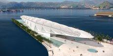 Le Museu do Amanhã, «musée de Demain», de l'architecte espagnol Santiago Pevsner Calatrava Valls, devrait être inauguré en mars 2015 dans la zone portuaire de Rio. / DR
