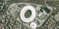 Photo du Maracanã prise par le satellite Spot. / DR