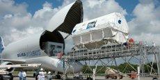 L'avion-cargo Beluga, équipé d'un moteur General Electric. / DR