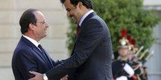 François Hollande et le Sheikh Tamim Ben Hamad Al-Thani ont évoqué l'avion de combat Rafale