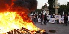 Des agriculteurs on manifesté leur colère à Paris.