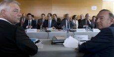 Le président du Medef, Pierre Gattaz, a estimé que les créations d'emplois générées par les aides du Pacte de responsabilité ne seraient pas immédiates. REUTERS/Kenzo Tribouillard/Pool
