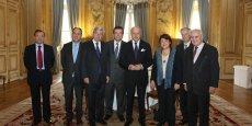 Laurent Fabius et son équipe de « représentants spéciaux pour la diplomatie économique ».