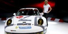 La Porsche 911 RSR au salon de  Genève début mars 2014
