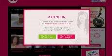 Le site 28max.com présentait des offres avantageuses pour les jeunes sous une interface rappelant le site Youporn
