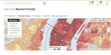 Trulia répertorie les prix immobiliers, mais aussi les crimes ou les écoles. (Capture d'écran du 29/07/2014)