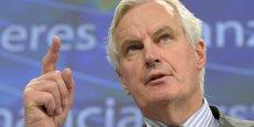 Pour le commissaire européen aux Services financiers Michel Barnier, « ce n'est pas l'excès de règles » qui a fragilisé la croissance, « c'est la spéculation. » REUTERS.