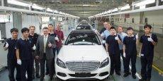 Sortie de chaîne à Pékin de la première nouvelle Classe C de Mercedes