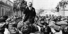 Béla Kun, dirigeant communiste hongrois, au pouvoir durant l'année 1919.