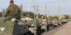 Selon le porte-parole de l'armée ukrainienne, un groupe de soldats russes avait franchi mercredi 26 août la frontière sur des blindés de transport de troupes de l'infanterie et un camion, avant d'entrer dans la ville d'Amvrossiivka.