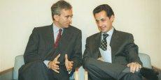 Nicolas Sarkozy en compagnie de Bernard Arnault.