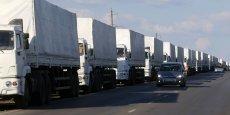 Tous les camions du convoi humanitaire russe arrivé vendredi 22 août en Ukraine qui s'est rendu dans les territoires contrôlés par les séparatistes dans l'est de l'Ukraine sont revenus en Russie dimanche 24 août, ont annoncé les observateurs de l'Organisation pour la sécurité et la coopération en Europe (OSCE).