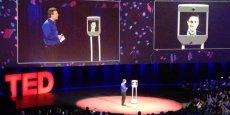 Edward Snowden a pris part à une conférence TED à Vancouver début mars via le robot de téléprésence Awabot.