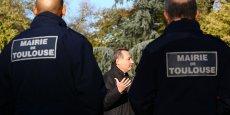 Jean-Luc Moudenc, lors de la présentation de sa liste complète pour une photo officielle, le 9 décembre 2013
