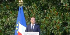 François Hollande, lors de son discours en hommage à Maurice Faure